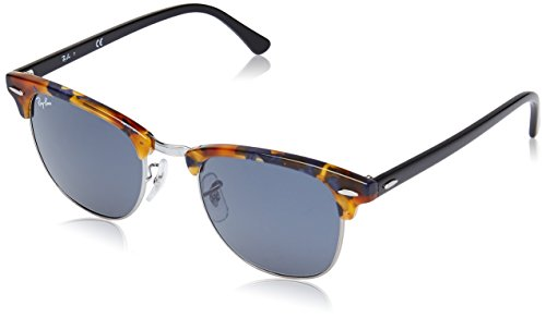 Ray-Ban CLUBMASTER - SPOTTED BLUE HAVANA Frame GREY Lenses 51mm - Ray Rx Lenses Ban