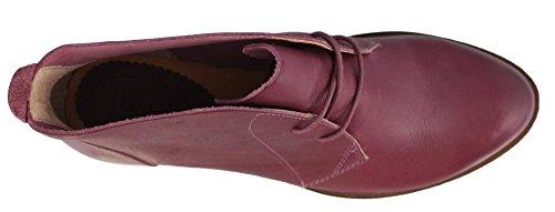 Plum Ankle Leather Isaac Boots Heel Women's Latigo Low qw8n10gv