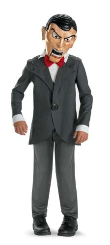 Scary Puppet Costume (Slappy Costume Deluxe Boy - Child 10-12)