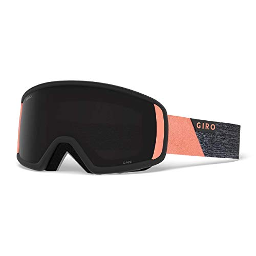 - Giro Gaze Womens Snow Goggles Grey/Peach Peak - Ultra Black