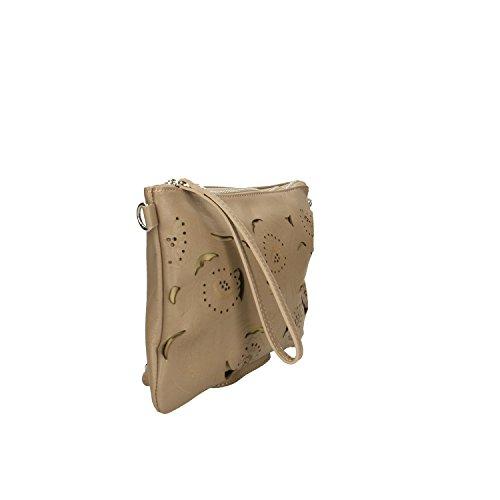 main Clutch Cm Sac en Italie Femme à cuir Borse fabriqué Taupe 29x18x2 Petit Chicca en véritable w1qYRn