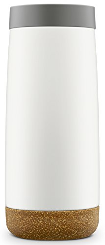 Ello Cole Vacuum Insulated Stainless Steel Water Bottle with Slider Lid, 16 oz, Grey