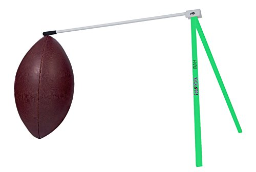 Kickoff! Football Holder --- Football Place Holder Kicking Tee -- Use with Foot ball Field Goal Post or Football Kicking Net (Green and Silver)