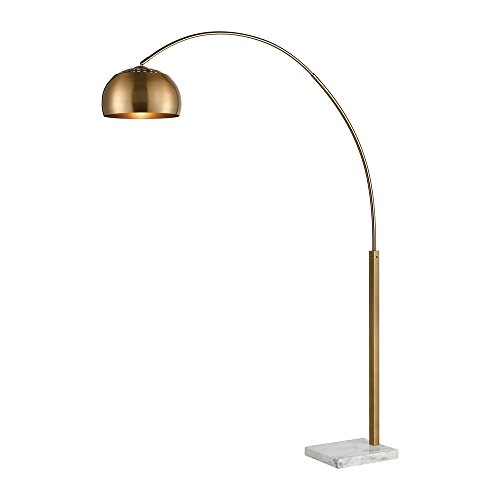 - Diamond Lighting D3591 Floor lamp, Aged Brass, White Marble