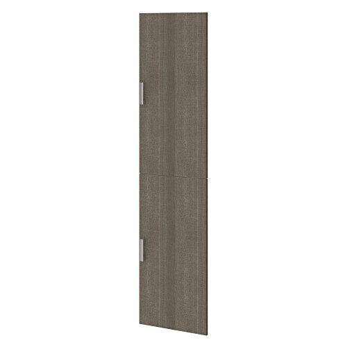 Bestar Cielo 2 Door Set for 19.5'' Storage Unit in Bark Gray by Bestar