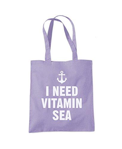 Holiday Fashion Bag I Vitamin Tote Purple Beach Need Sea Lavender Shopper nnAU8