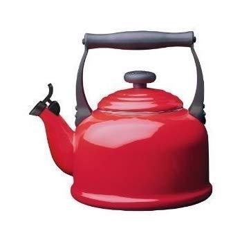 Le Creuset Enamel-on-Steel Whistling 2.2-Quart Teakettle, Chili Red