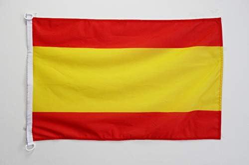 AZ FLAG Bandera de ESPAÑA SIN Armas 150x90cm Uso Exterior - Bandera ESPAÑOLA SIN Escudo 90 x 150 cm Anillos: Amazon.es: Jardín
