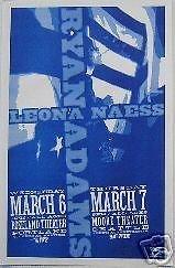 Ryan Adams Leona Naess Rare Original Concert First Printing Concert Tour Poster from ConcertPosterArt