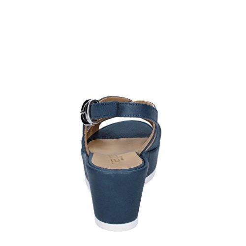 Tres Azul Jolie de Piel Para Vestir Turquesa Sandalias Mujer de T6TrFgwxq