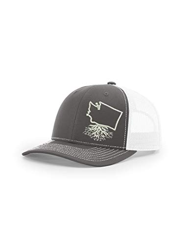 Wear Your Roots Snapback Trucker Hat (One Size - Adjustable, Washington Charcoal/White Mesh)