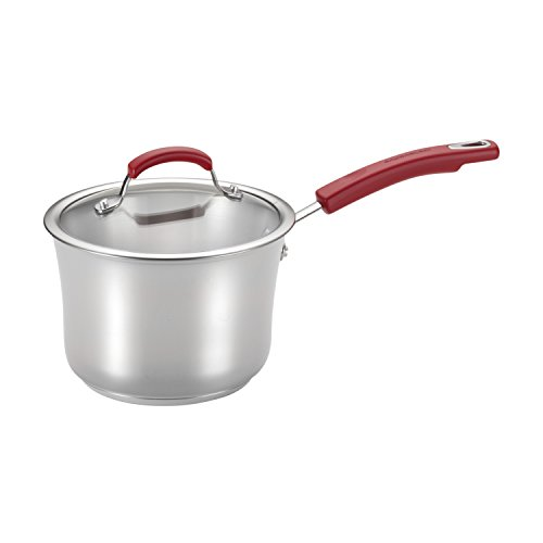Rachael Stainless Steel Skillet Ray (Rachael Ray Classic Brights Stainless Steel  3.5-Quart Covered Saucepan, Red Handles)
