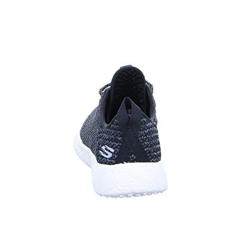 Skechers Kvinners Brast City Scene Uformell Sneaker, Svart / Hvit, Oss 11 M