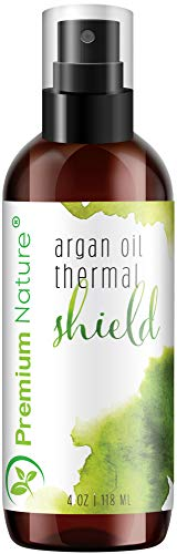 Argan Oil Hair Protector Spray - Thermal Heat Protectant For Styling Treatment Against Flat Iron andamp; Hot Blow Dry - 100% Natural Prevents Damage Dryness Breakage andamp; Split Ends Premium Nature