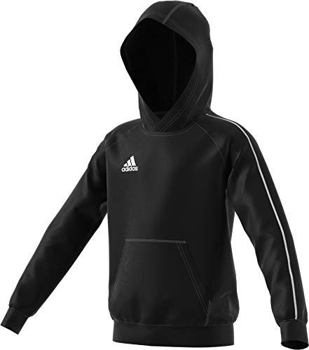 adidas Unisex Youth Soccer Core18 Hoody, Black/White, Large