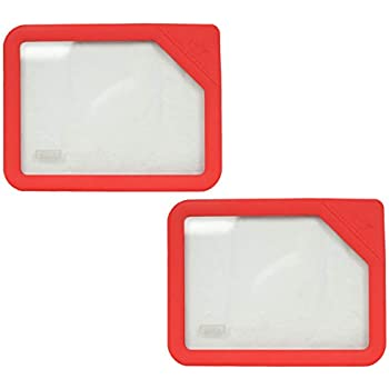 Pyrex Ultimate OV-7211 Red 6 Cup Rectangle Glass Storage Lid - 2 Pack