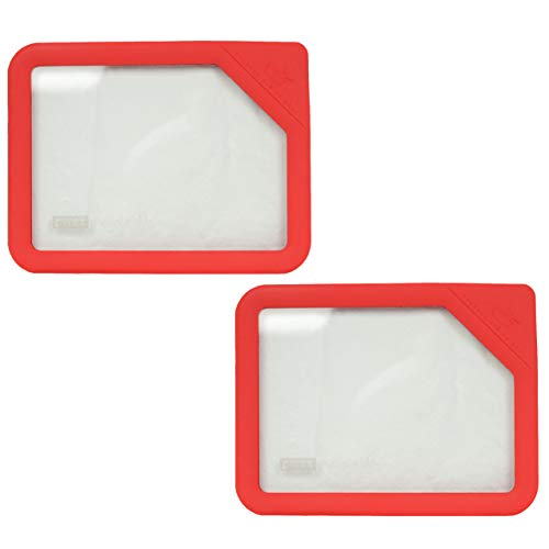 Pyrex Ultimate OV-7211 Red 6 Cup Rectangle Glass Storage Lid - 2 Pack 6 Cup Rectangle Storage