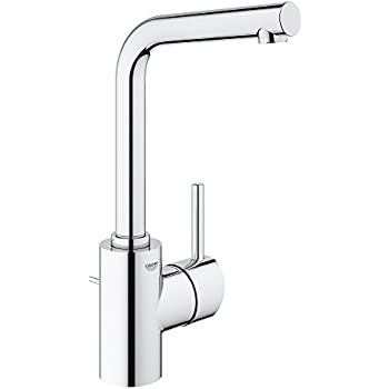 hansgrohe 32070001 talis s high swing single hole spout chrome touch on bathroom sink faucets. Black Bedroom Furniture Sets. Home Design Ideas