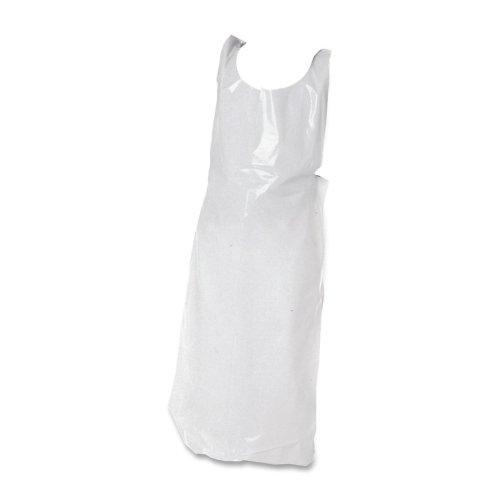 Wholesale CASE of 15 - Baumgartens Disposable Poly Apron-Disposable Apron, 36''x16'', Polyethylene, 100/PK, White