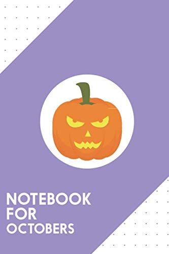Halloween Pumpkin Head Drawings (Notebook for Octobers: Dotted Journal with Evil light Halloween Pumpkin Design - Cool Gift for a friend or family who loves holiday presents! | 6x9