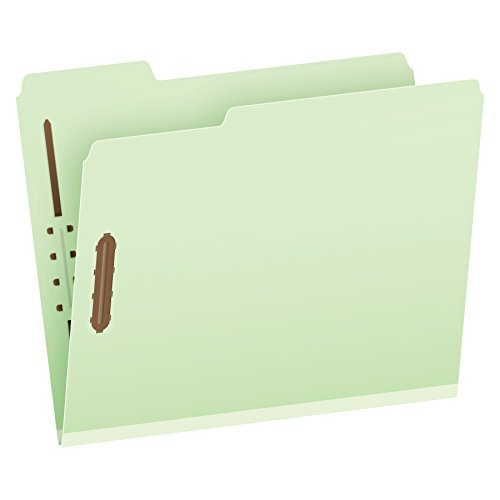 (Pendaflex Pressboard Fastener Folders, Letter Size, Light Green, 2