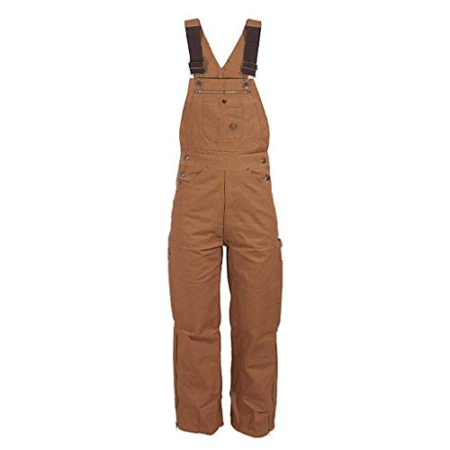 Berne Men's Original Unlined Duck Bib Overall, Brown, ()