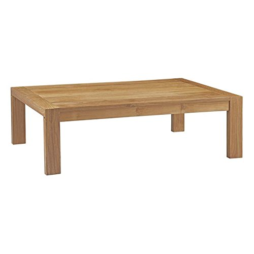 Modway EEI-2710-NAT Upland Outdoor Patio Wood Coffee Table, Natural ()