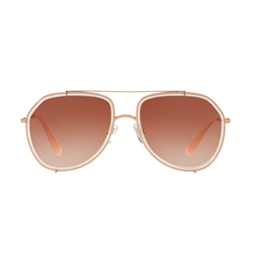 Dolce & Gabbana Women's Metal Woman Aviator Sunglasses, Opal Pink/Pink Gold, 55 - Gabbana Dolce Glasses Pink And