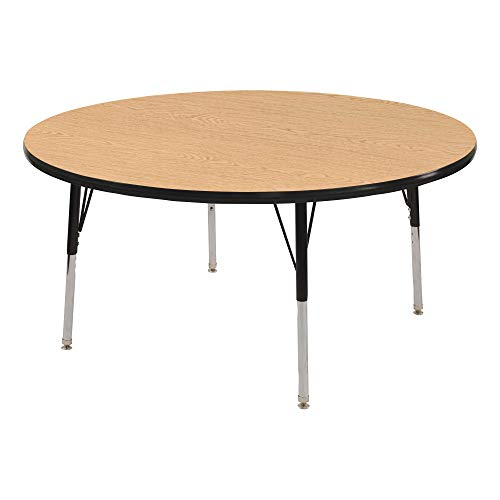 Norwood Commercial Furniture Adjustable-Height Round Activity Table, 36