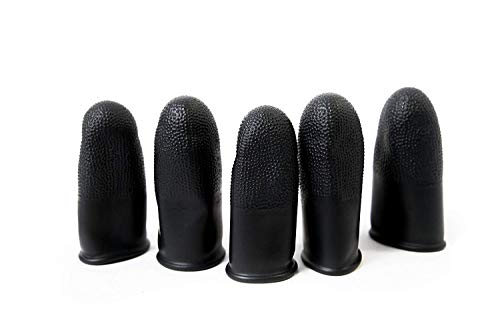 Black Static Dissipative Finger Cots, 14 Mil Thick, Large (Pack of 100) - Case of 10 Bags by Bertech (Image #3)