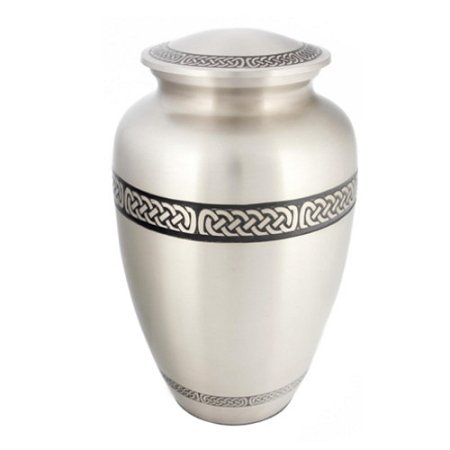 Silverlight Urns Celtic Band Cremation Urn, Irish Themed Urn for Ashes, Adult Brass Urn, 10 Inches -