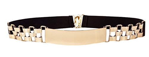 (Bellady Womens Belt Metal Waistband Golden Silver Belt Dress Accessory,4cm)