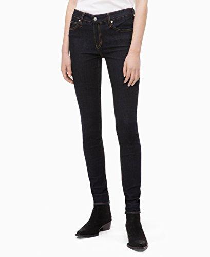 (Calvin Klein womens CKJ 011 Mid Rise Skinny Fit Jean, Malivu blue rinse, 31X28)