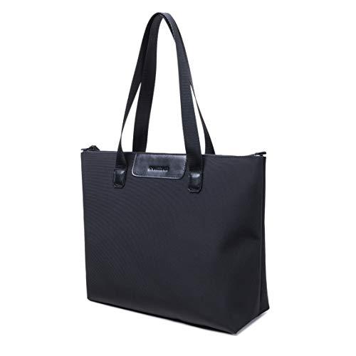 SMARTHAIR Womens Shoulder Bag Nylon Top Handle Satchel Handbag Tote Purse,Black