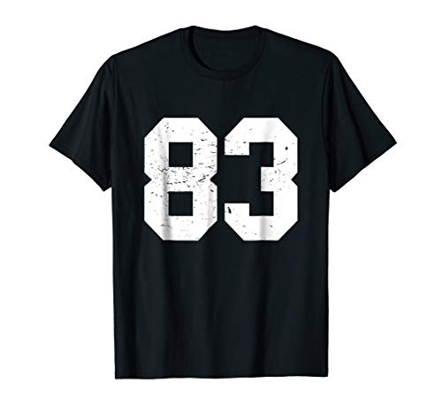 #83 Sports Fan Player T Shirt Number 83