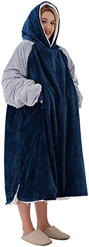 Winthome The Sherpa Fluffle Blanket Sweatshirt Warm, Soft, Cosy. Reversible Large Fleece Blanket Hoodie