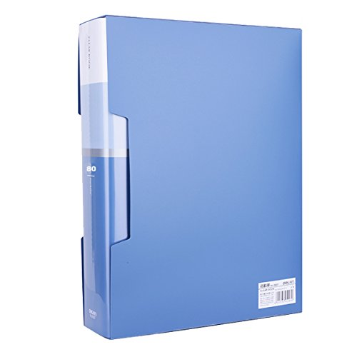 (80-Pocket Business A4 Sheet Presentation Book, 160-Page Capacity for A4 and Letter Size Inserts File-N-View Presentation Display Book)