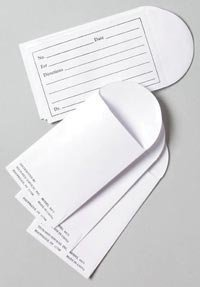 PT# 4415 Envelope Pill Printed Heavyweight White 2x3