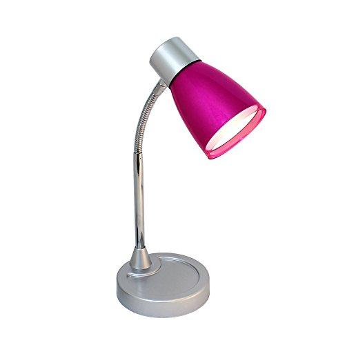 Limelights LD2003-PNK Flashy Flexible Gooseneck LED Desk Lamp, 5.12 x 5.12 x 112, Metallic Pink