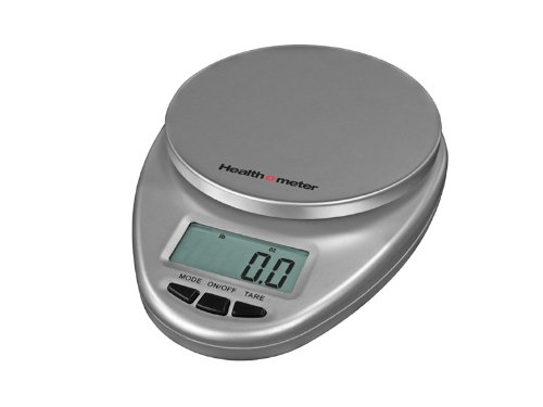 Health o meter HM1S Multifunctional Digital Kitchen Scale 11Lb/5000Gm, Silver