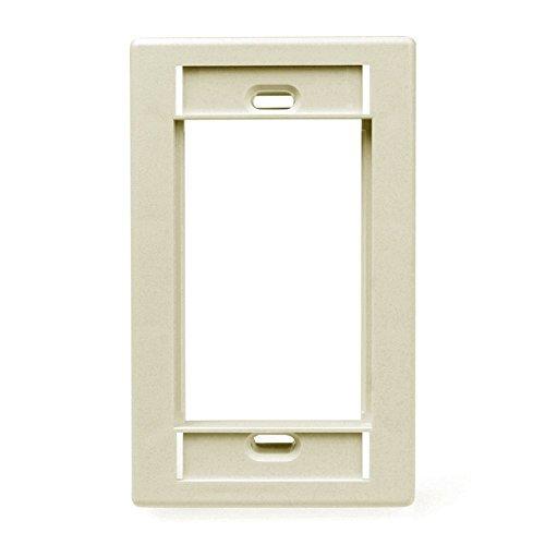 - Leviton 41290-SMI Single Gang MOS Wall Plate with ID Windows, Ivory