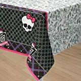 MONSTER HIGH Girls TABLE COVER Decoration Party Birthday Halloween Skull Cloth -
