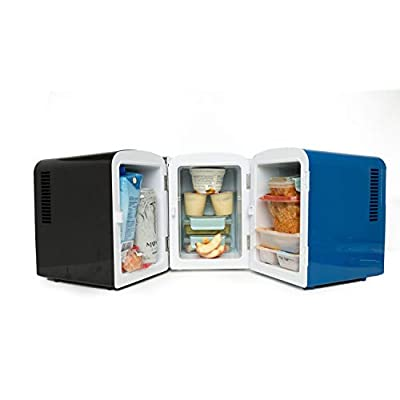 AstroAI Mini Fridge 4 Liter/6 Can Portable AC/DC Powered Thermoelectric System Cooler and Warmer for Cars, Homes, Offices, and Dorms, Blue: Automotive