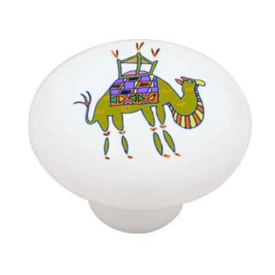 African Tribal Camel High Gloss Ceramic Drawer Knob