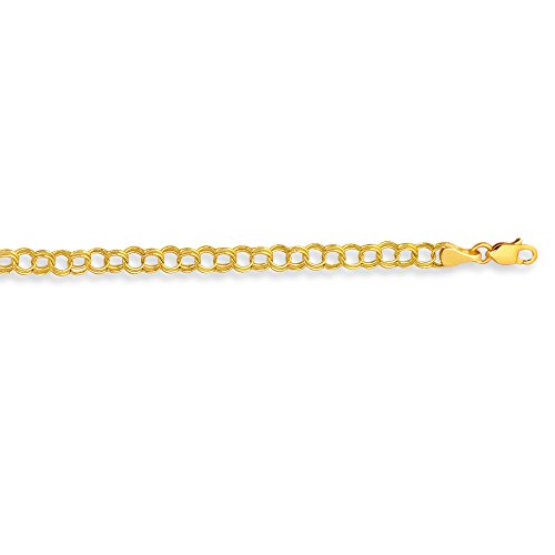 14k Solid Real Yellow Gold Link Charm Bracelet 7 1/4'' by Ritastephens (Image #1)