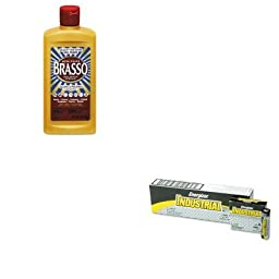 KITEVEEN91RAC89334 - Value Kit - BRASSO Metal Surface Polish (RAC89334) and Energizer Industrial Alkaline Batteries (EVEEN91)