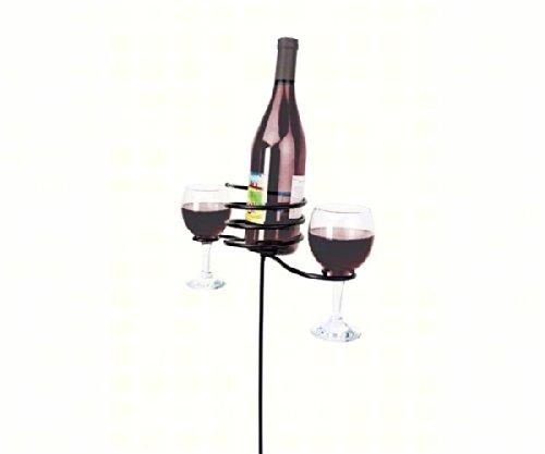 Cheap Panacea PAN87940 Black 24″ Wine Bottle & Glasses Stake