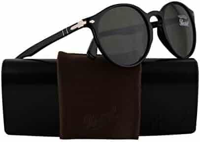 1e39e1cdf Persol PO3171S Sunglasses Black w/Green Lens 49mm 9531 PO 3171S PO3171-S PO