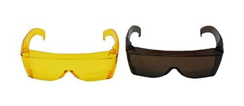 View Mirror Polarized Rear (Home-X Wrap Around Sunglasses Set of 2 | Yellow Brown)
