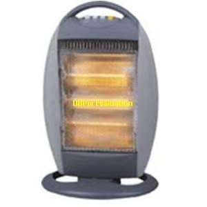 2 x 1200w oscillating 3 heat setting halogen heaters with